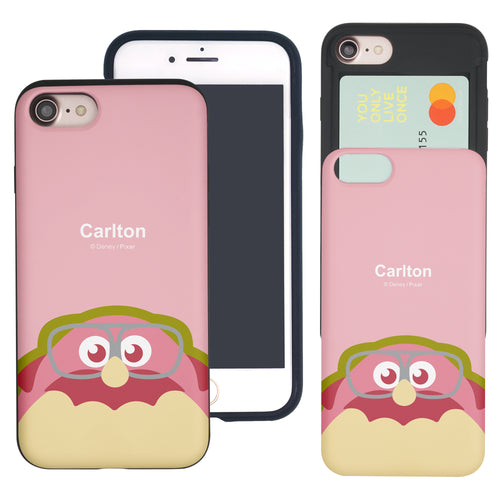 iPhone 8 Plus / iPhone 7 Plus Case Monsters University inc Slim Slider Card Slot Dual Layer Holder Bumper Cover - Big Carlton