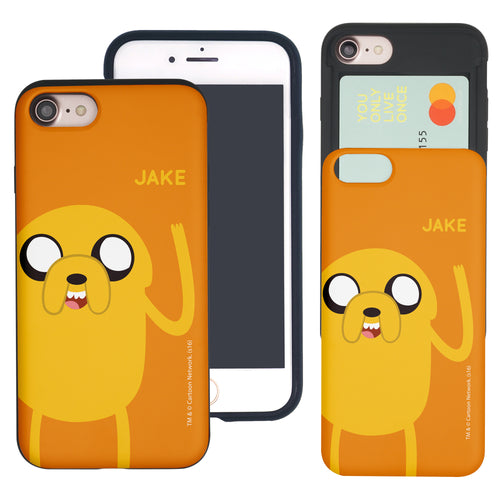 iPhone 8 Plus / iPhone 7 Plus Case Adventure Time Slim Slider Card Slot Dual Layer Holder Bumper Cover - Cuty Jake