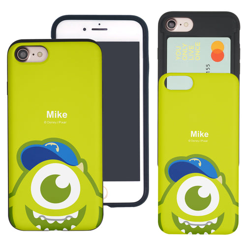 iPhone 8 Plus / iPhone 7 Plus Case Monsters University inc Slim Slider Card Slot Dual Layer Holder Bumper Cover - Big Mike