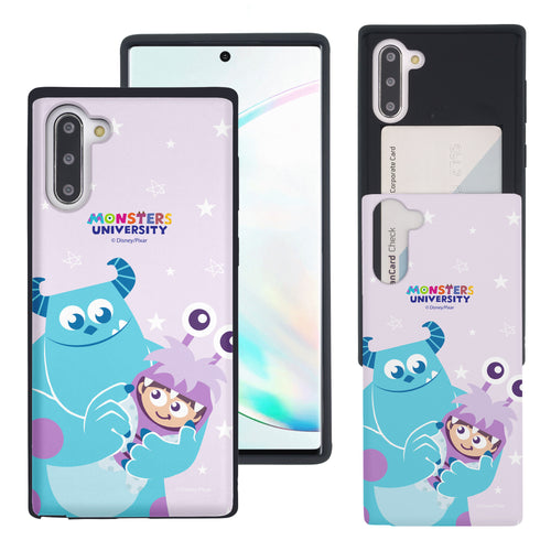 Galaxy Note10 Case (6.3inch) Monsters University inc Slim Slider Card Slot Dual Layer Holder Bumper Cover - Full Boo