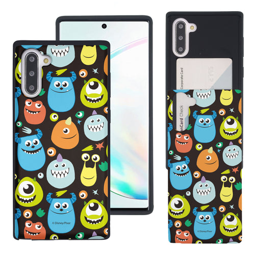 Galaxy Note10 Case (6.3inch) Monsters University inc Slim Slider Card Slot Dual Layer Holder Bumper Cover - Icon Monsters