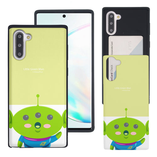 Galaxy Note10 Case (6.3inch) Toy Story Slim Slider Card Slot Dual Layer Holder Bumper Cover - Baby Alien