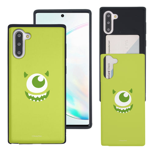 Galaxy Note10 Case (6.3inch) Monsters University inc Slim Slider Card Slot Dual Layer Holder Bumper Cover - Face Mike