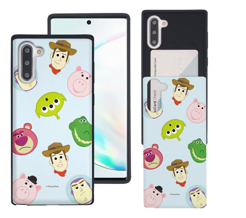 Galaxy Note10 Case (6.3inch) Toy Story Slim Slider Card Slot Dual Layer Holder Bumper Cover - Pattern Face