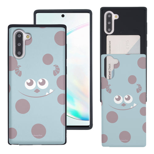 Galaxy Note10 Case (6.3inch) Monsters University inc Slim Slider Card Slot Dual Layer Holder Bumper Cover - Face Sulley