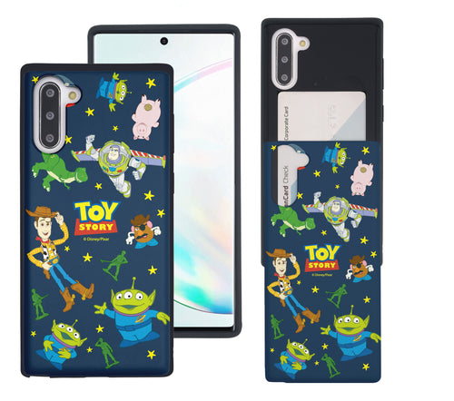Galaxy Note10 Case (6.3inch) Toy Story Slim Slider Card Slot Dual Layer Holder Bumper Cover - Pattern Toy Story