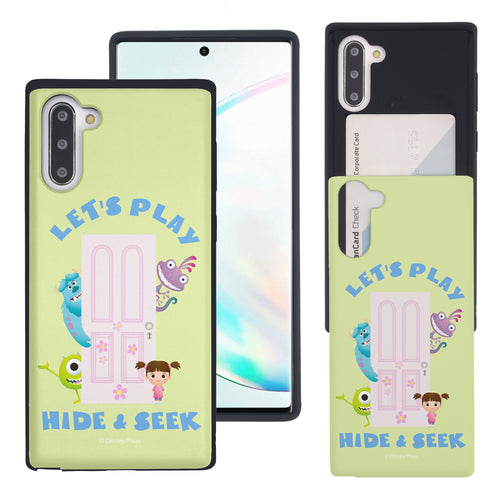 Galaxy Note10 Case (6.3inch) Monsters University inc Slim Slider Card Slot Dual Layer Holder Bumper Cover - Simple Hide Seek