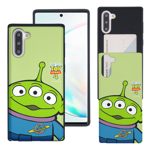 Galaxy Note10 Case (6.3inch) Toy Story Slim Slider Card Slot Dual Layer Holder Bumper Cover - Wide Alien