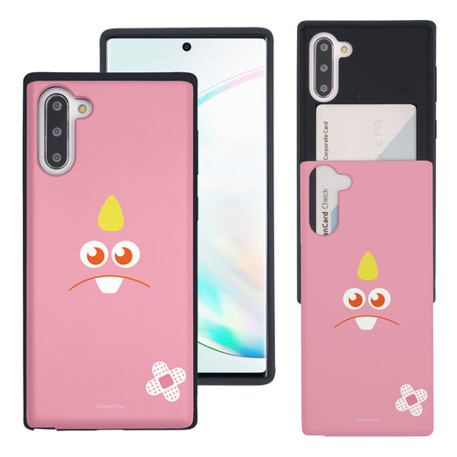 Galaxy Note10 Case (6.3inch) Monsters University inc Slim Slider Card Slot Dual Layer Holder Bumper Cover - Face George Hairless
