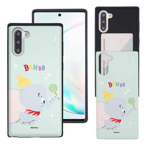 Galaxy Note10 Plus Case (6.8inch) Disney Dumbo Slim Slider Card Slot Dual Layer Holder Bumper Cover - Dumbo Candy