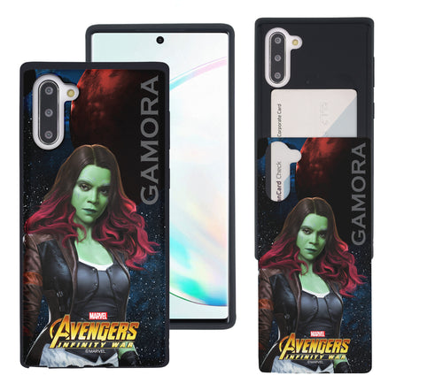 Galaxy Note10 Plus Case (6.8inch) Marvel Avengers Slim Slider Card Slot Dual Layer Holder Bumper Cover - Infinity War Gamora