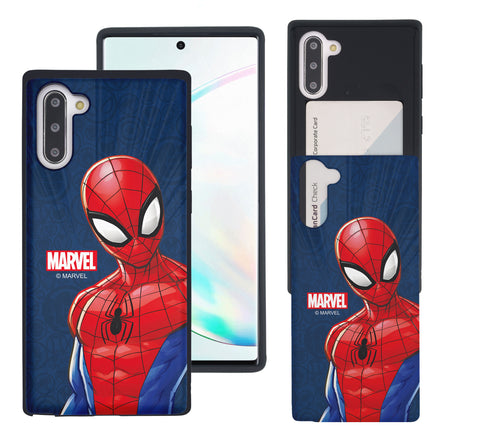 Galaxy Note10 Case (6.3inch) Marvel Avengers Slim Slider Card Slot Dual Layer Holder Bumper Cover - Illustration Spider Man