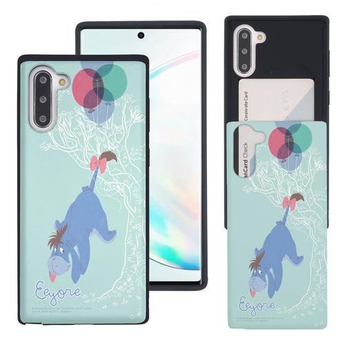 Galaxy Note10 Plus Case (6.8inch) Disney Pooh Slim Slider Card Slot Dual Layer Holder Bumper Cover - Balloon Eeyore