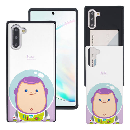 Galaxy Note10 Case (6.3inch) Toy Story Slim Slider Card Slot Dual Layer Holder Bumper Cover - Baby Buzz