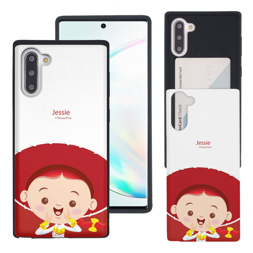 Galaxy Note10 Case (6.3inch) Toy Story Slim Slider Card Slot Dual Layer Holder Bumper Cover - Baby Jessie