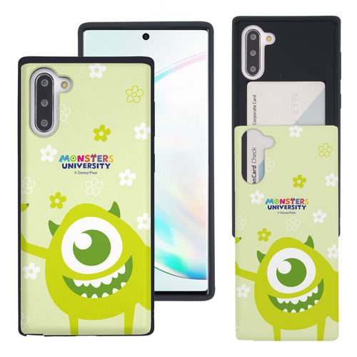 Galaxy Note10 Case (6.3inch) Monsters University inc Slim Slider Card Slot Dual Layer Holder Bumper Cover - Full Mike