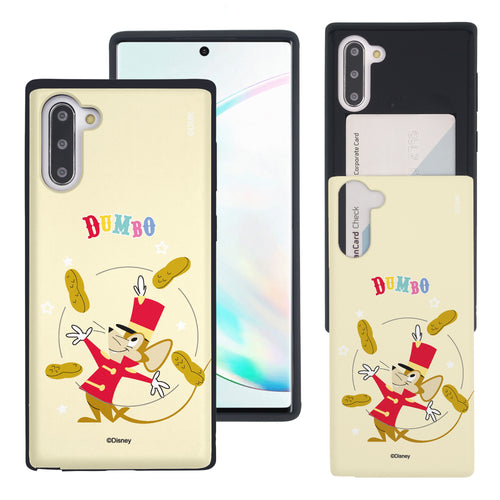 Galaxy Note10 Plus Case (6.8inch) Disney Dumbo Slim Slider Card Slot Dual Layer Holder Bumper Cover - Dumbo Timothy