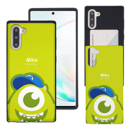 Galaxy Note10 Case (6.3inch) Monsters University inc Slim Slider Card Slot Dual Layer Holder Bumper Cover - Big Mike