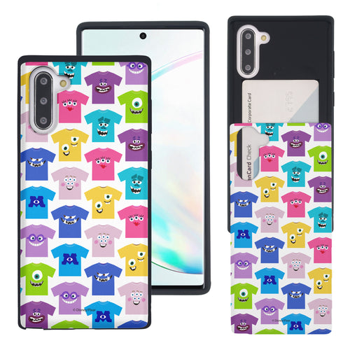 Galaxy Note10 Case (6.3inch) Monsters University inc Slim Slider Card Slot Dual Layer Holder Bumper Cover - Pattern Shirts