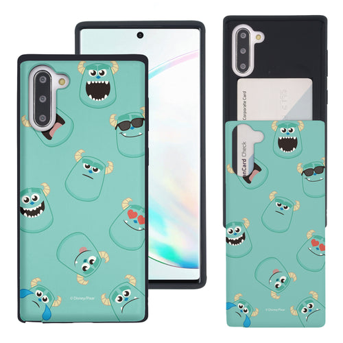 Galaxy Note10 Case (6.3inch) Monsters University inc Slim Slider Card Slot Dual Layer Holder Bumper Cover - Pattern Sulley
