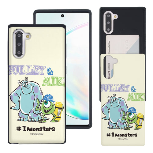 Galaxy Note10 Case (6.3inch) Monsters University inc Slim Slider Card Slot Dual Layer Holder Bumper Cover - Cartoon 1 Monsters