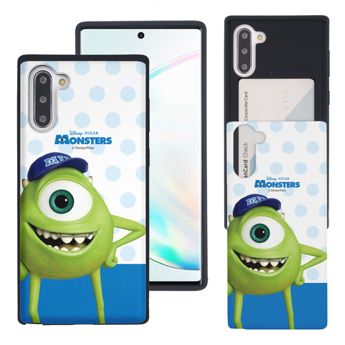 Galaxy Note10 Case (6.3inch) Monsters University inc Slim Slider Card Slot Dual Layer Holder Bumper Cover - Movie Mike