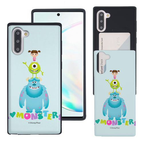 Galaxy Note10 Case (6.3inch) Monsters University inc Slim Slider Card Slot Dual Layer Holder Bumper Cover - Simple Together