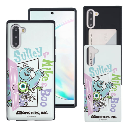 Galaxy Note10 Case (6.3inch) Monsters University inc Slim Slider Card Slot Dual Layer Holder Bumper Cover - Cartoon Boo
