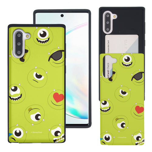Galaxy Note10 Case (6.3inch) Monsters University inc Slim Slider Card Slot Dual Layer Holder Bumper Cover - Pattern Mike