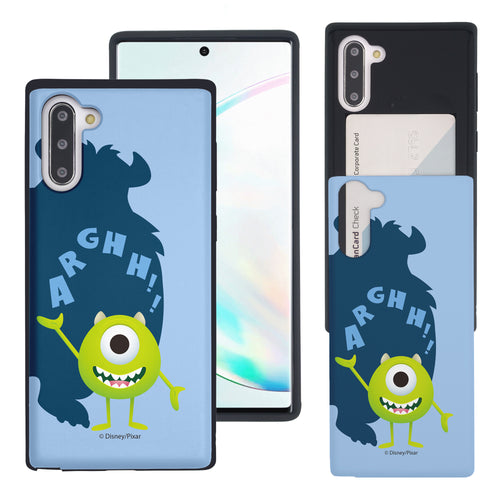 Galaxy Note10 Case (6.3inch) Monsters University inc Slim Slider Card Slot Dual Layer Holder Bumper Cover - Simple Mike