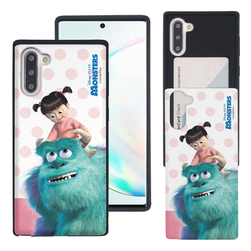 Galaxy Note10 Case (6.3inch) Monsters University inc Slim Slider Card Slot Dual Layer Holder Bumper Cover - Movie Boo