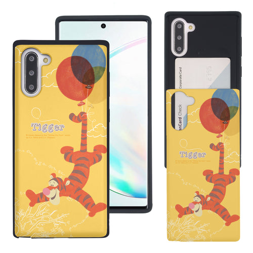 Galaxy Note10 Plus Case (6.8inch) Disney Pooh Slim Slider Card Slot Dual Layer Holder Bumper Cover - Balloon Tigger