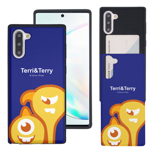 Galaxy Note10 Case (6.3inch) Monsters University inc Slim Slider Card Slot Dual Layer Holder Bumper Cover - Big Terri and Terry