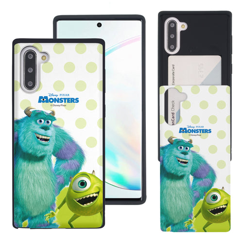 Galaxy Note10 Case (6.3inch) Monsters University inc Slim Slider Card Slot Dual Layer Holder Bumper Cover - Movie Mike Sulley