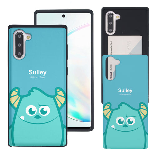 Galaxy Note10 Case (6.3inch) Monsters University inc Slim Slider Card Slot Dual Layer Holder Bumper Cover - Big Sulley