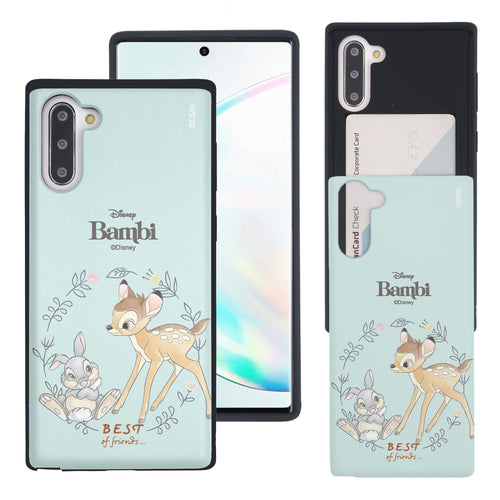 Galaxy Note10 Plus Case (6.8inch) Disney Bambi Slim Slider Card Slot Dual Layer Holder Bumper Cover - Full Bambi Thumper