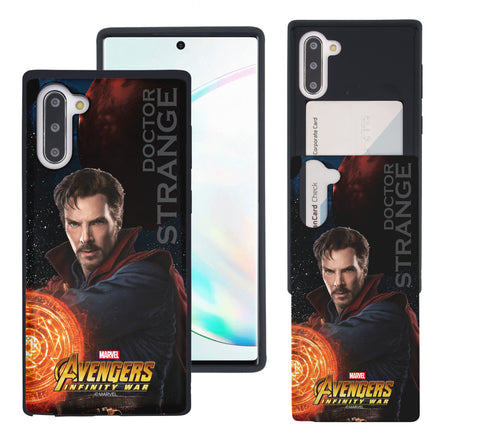 Galaxy Note10 Case (6.3inch) Marvel Avengers Slim Slider Card Slot Dual Layer Holder Bumper Cover - Infinity War Doctor Strange