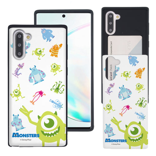 Galaxy Note10 Case (6.3inch) Monsters University inc Slim Slider Card Slot Dual Layer Holder Bumper Cover - Pattern Monsters