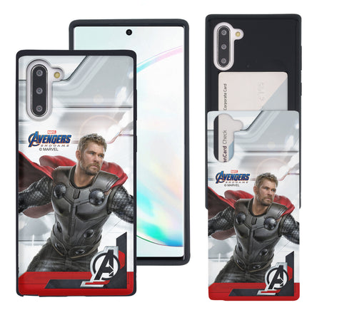 Galaxy Note10 Case (6.3inch) Marvel Avengers Slim Slider Card Slot Dual Layer Holder Bumper Cover - End Game Thor