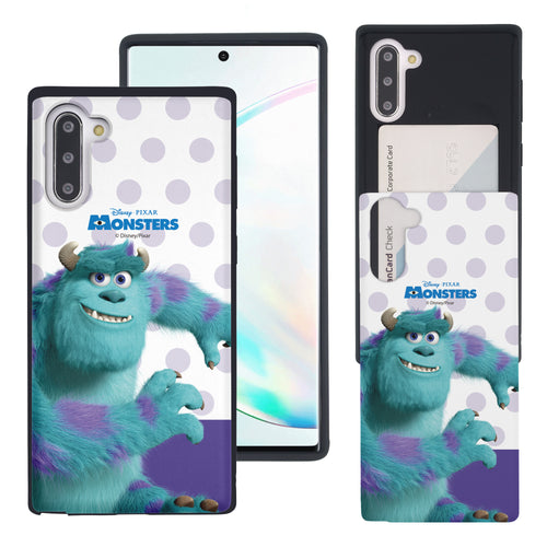 Galaxy Note10 Case (6.3inch) Monsters University inc Slim Slider Card Slot Dual Layer Holder Bumper Cover - Movie Sulley