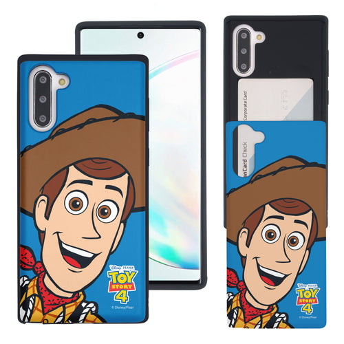 Galaxy Note10 Case (6.3inch) Toy Story Slim Slider Card Slot Dual Layer Holder Bumper Cover - Wide Woody