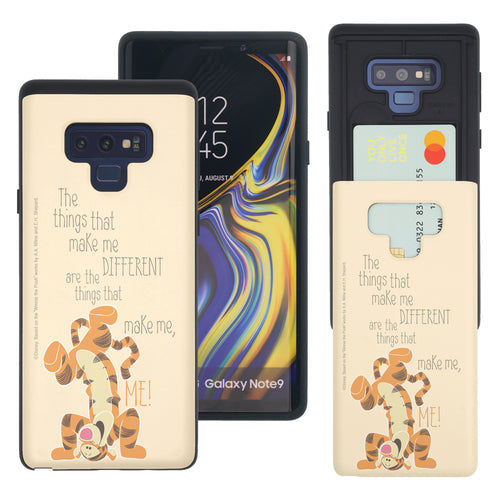 Galaxy Note9 Case Disney Pooh Slim Slider Card Slot Dual Layer Holder Bumper Cover - Words Tigger