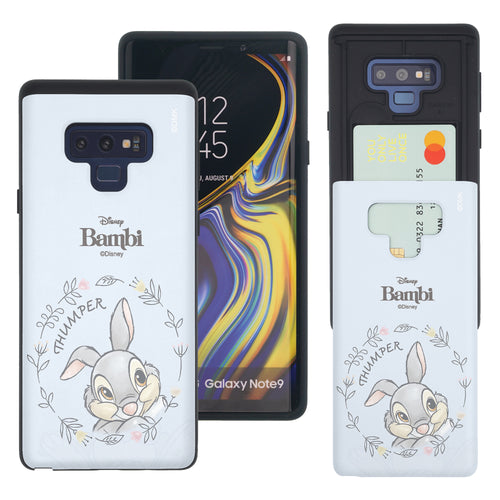 Galaxy Note9 Case Disney Bambi Slim Slider Card Slot Dual Layer Holder Bumper Cover - Face Thumper