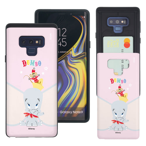 Galaxy Note9 Case Disney Dumbo Slim Slider Card Slot Dual Layer Holder Bumper Cover - Dumbo Overhead