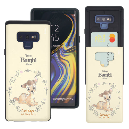 Galaxy Note9 Case Disney Bambi Slim Slider Card Slot Dual Layer Holder Bumper Cover - Full Bambi