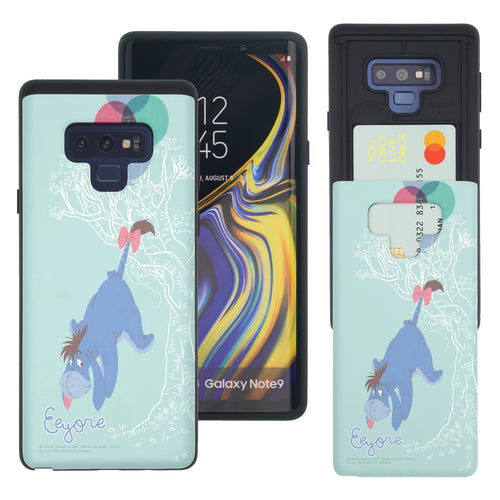 Galaxy Note9 Case Disney Pooh Slim Slider Card Slot Dual Layer Holder Bumper Cover - Balloon Eeyore