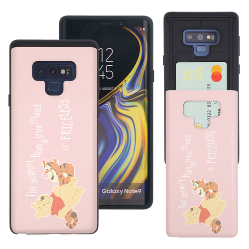 Galaxy Note9 Case Disney Pooh Slim Slider Card Slot Dual Layer Holder Bumper Cover - Words Pooh Tigger