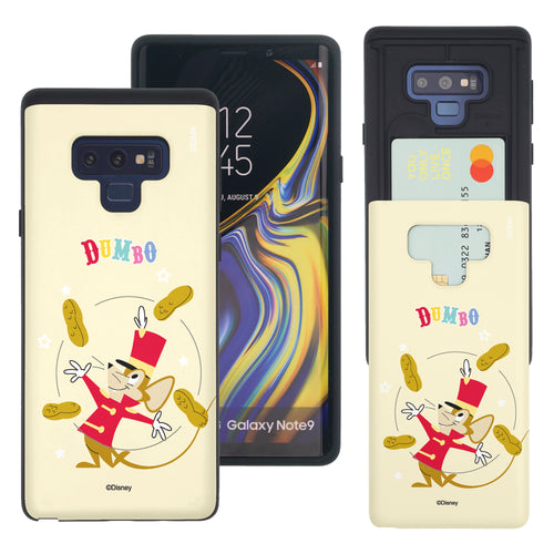 Galaxy Note9 Case Disney Dumbo Slim Slider Card Slot Dual Layer Holder Bumper Cover - Dumbo Timothy