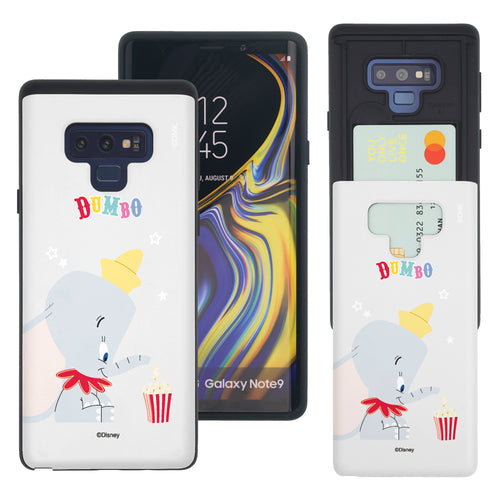 Galaxy Note9 Case Disney Dumbo Slim Slider Card Slot Dual Layer Holder Bumper Cover - Dumbo Popcorn