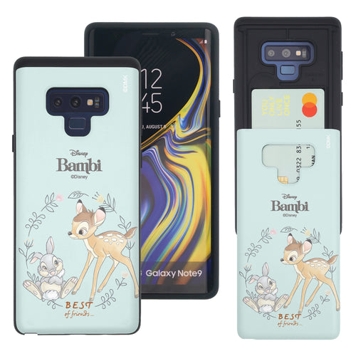 Galaxy Note9 Case Disney Bambi Slim Slider Card Slot Dual Layer Holder Bumper Cover - Full Bambi Thumper